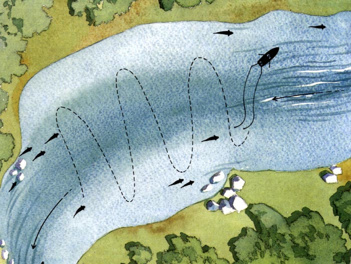 троллинг на реке белая