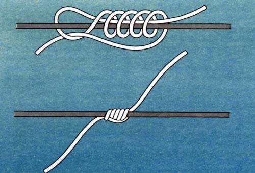 как завязать стопорный узел для поплавка видео